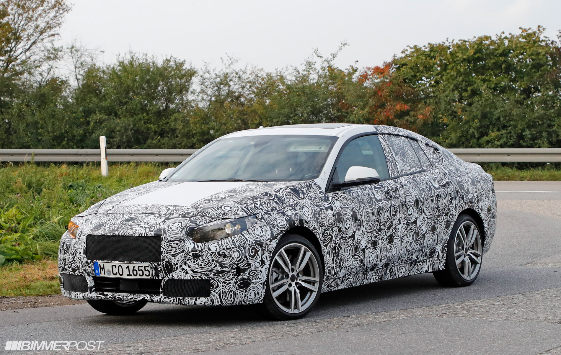 the bmw 2 series gran coupe f44 has just been spied. Black Bedroom Furniture Sets. Home Design Ideas