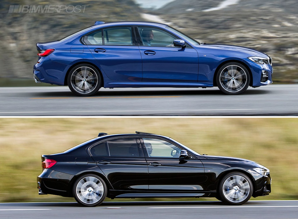 Visual Comparison G20 3 Series Vs F30 3 Series M Sport