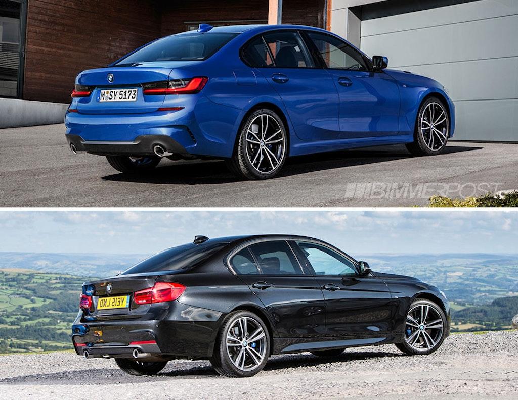 Visual Comparison G20 3 Series Vs F30 3 Series M Sport