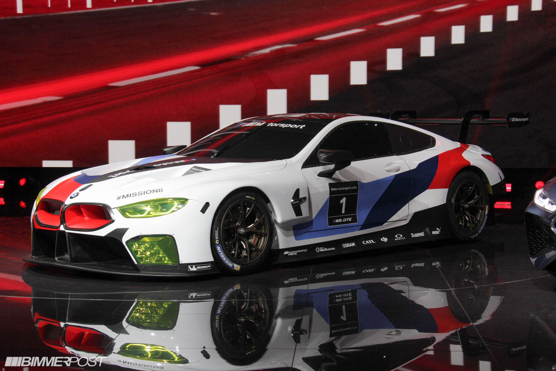 bmw m8 gte world debut updated with pics from frankfurt iaa. Black Bedroom Furniture Sets. Home Design Ideas