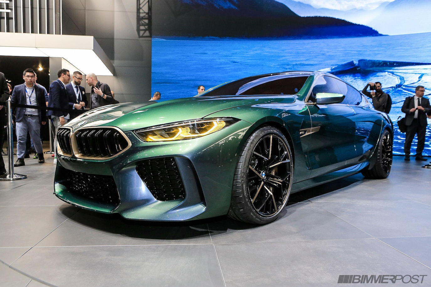 Bmw M8 Gran Coupe Concept Debut Live Pics From Geneva