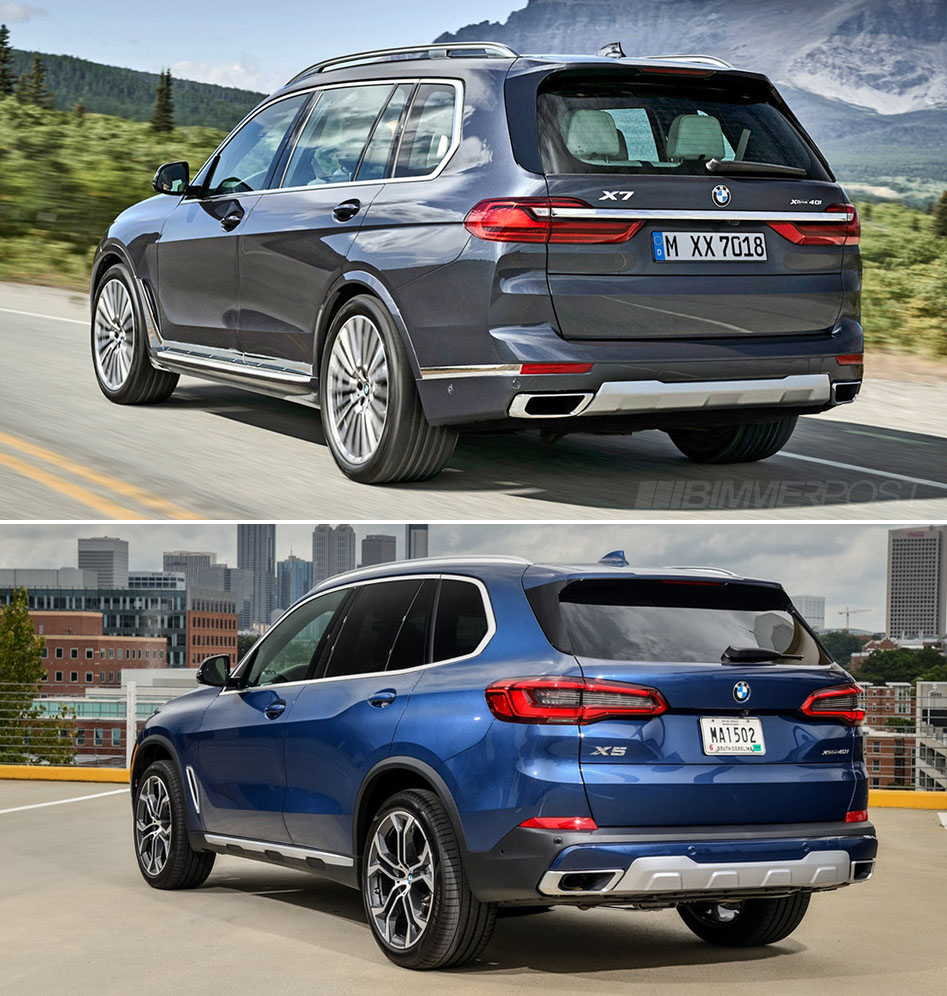 Visual Comparison: 2019 BMW X7 Vs BMW X5