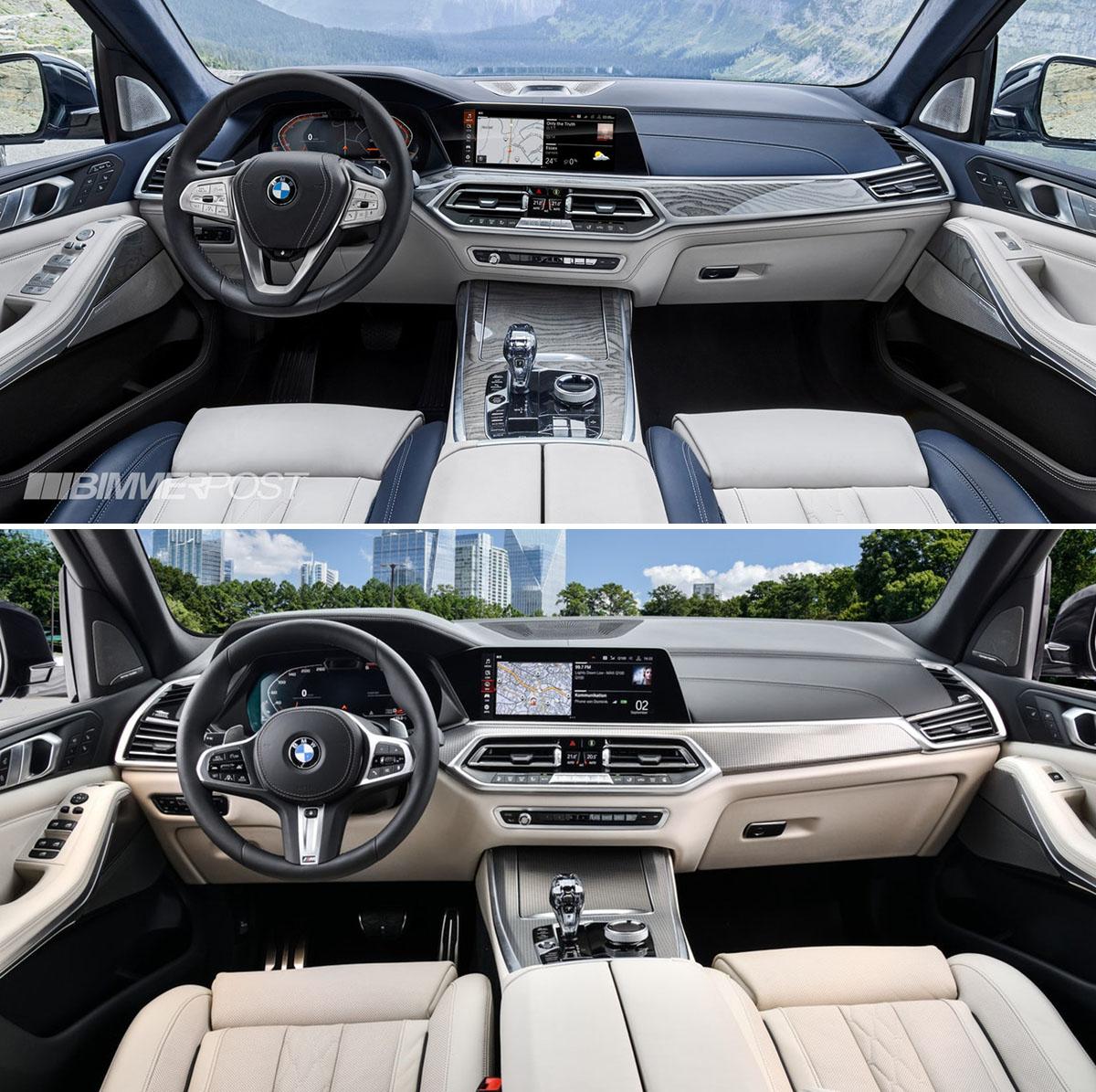 Bmw X7 2018: Visual Comparison: 2019 BMW X7 Vs BMW X5